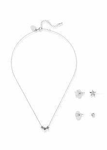 Komplet 5-częściowy biżuterii bonprix srebrny kolor