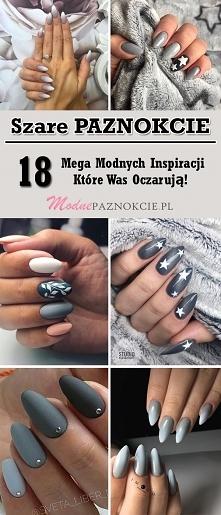 Szare Paznokcie – TOP 18 Mega Modnych Inspiracji Które Was Oczarują!