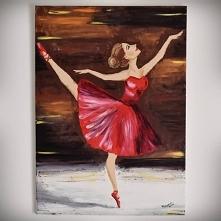 Oryginalna kreska, ciekawa kompozycja, mistrzowski dobór kolorów... A, nie! To po prostu mój, zwyczajny, prosty obraz, malowany olejami, amatorsko ;P Zachwiane proporcje, ale ja...