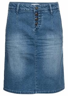 Miękka spódnica dżinsowa ze stretchem bonprix jasnoniebieski