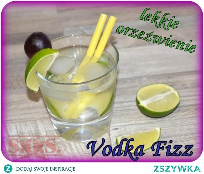 Drink Vodka Fizz - lekko słodki orzeźwiający drink z wódką;)