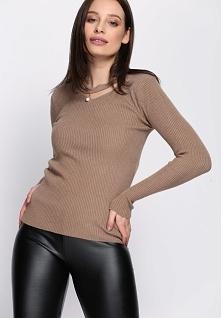 Jasnobrązowy Sweter Shine Brightly