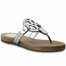 Espadryle TORY BURCH - Miller Espadrille Sandal 47743 Silver 040