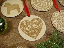 drewniane zawieszki na choinkę w świąteczne motywy, cała oferta na stronie jo...