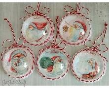 Zestaw 5 bombek, który może być piękną dekoracją oraz oryginalnym prezentem świątecznym. Bombki zapakowane są w pudełko z okienkiem. Średnica bombki 6 cm.