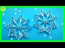 Jak zrobić - Śnieżynka z Pasków Papieru / How to make - Paper Strip Snowflake