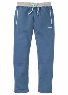 Spodnie dresowe Regular Fit bonprix niebieski dżins