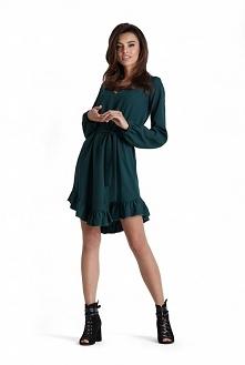 Sukienka MASHA w pięknym zielonym kolorze  zamów na ivon-sklep.pl