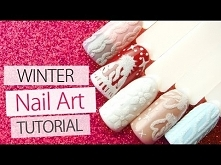 Sweater Nail Art Tutorial ❅Winter Nail Designs❅ | 3D Cable Knit Sweater Lesso...