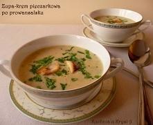 Zupa-krem pieczarkowa po prowansalsku