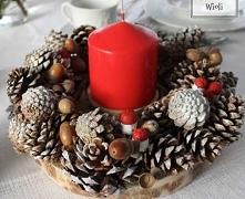 Świąteczny wianek  ze świec...