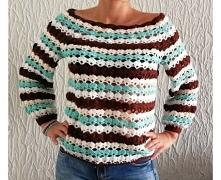 Sweterek autorski robiony s...
