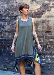 Tunika-sukienka szydełkowan...