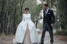 Najpiekniejsza (dwuczesciowa!) suknia ślubna jaką kiedykolwiek widziałam i na...