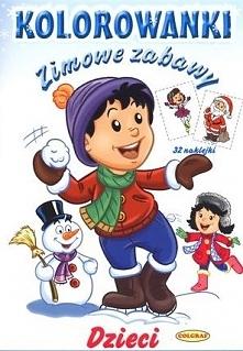Dzieci. Zimowe zabawy (kolorowanki z naklejkami)