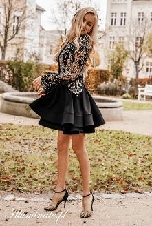 Czarna sukienka na studniówkę z kolekcji Illuminate <3