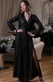 Roco 0227 sukienka czarno-z...