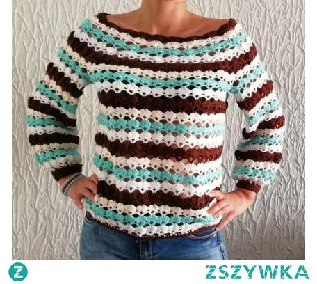 Sweterek autorski robiony szydełkiem.  Sweterek wykonuje na zamówienie.  Możliwość wyboru kolorów.