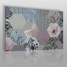 Jedwabna konstelacja - nowoczesny obraz na płótnie