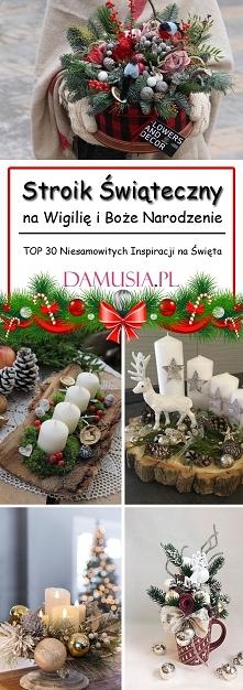 Stroik Świąteczny na Wigilię i Boże Narodzenie: TOP 30 Niesamowitych Inspirac...