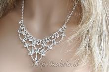 Biżuteria kolia z kryształkami