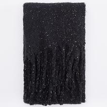 Szalik z frędzlami - Czarny