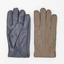 Rękawiczki skórzane ReDesign - Brązowy