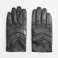 Rękawiczki skórzane - Czarny