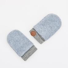 Rękawiczki z polaru - Jasny szar