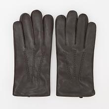 Rękawiczki skórzane - Brązowy