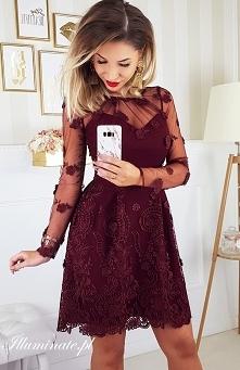 Piękna nowa sukienka w kolekcji Illuminate <3 Bordowa sukienka na każdą okazję <3