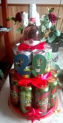 Tort piwny,kreatywny prezent urodzinowy