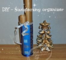 DIY organizer w świątecznym klimacie - masz ochotę taki stworzyć i wytrzymać ...