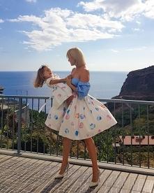 Przepiękne zestawy dopasowanych sukienek dla mam i córek