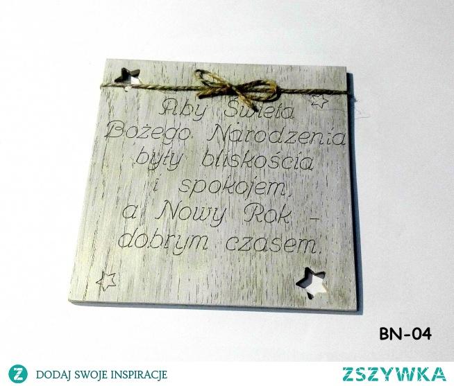 Złóż bliskim życzenia na święta w sposób oryginalny za pomocą drewnianej kartki! cena: 14 zł