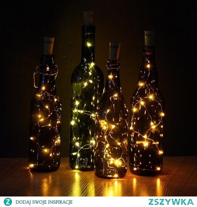 Dekoracyjne diody LED można włożyć do butelek. Ekotechnik24.pl