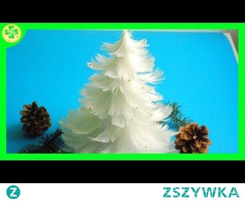 Jak zrobić - Choinka z piór / How to make a Feather Christmas Tree