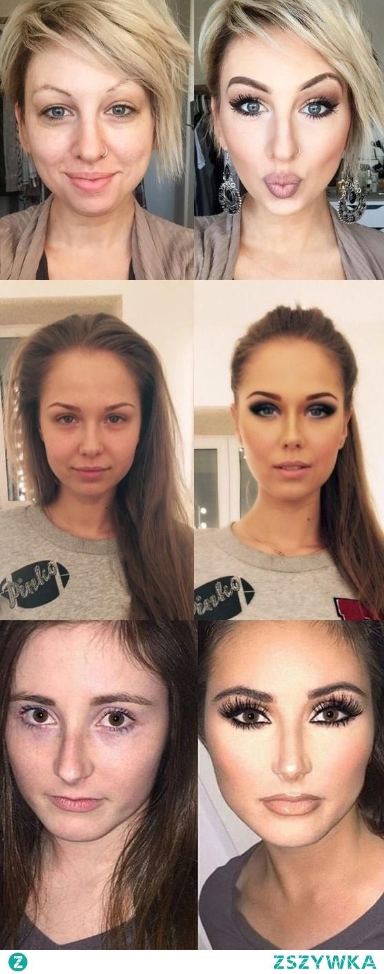 Makijażowe metamorfozy, co sądzicie na temat takich zmian?:)  Więcej zdjęć po kliknięciu w zszywkę.