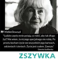 Danuta Szaflarska Polska Aktorka Kobieta Którą Podziwiam Za Na