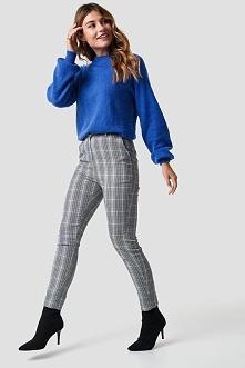 NA-KD Classic Dopasowane spodnie garniturowe - Grey