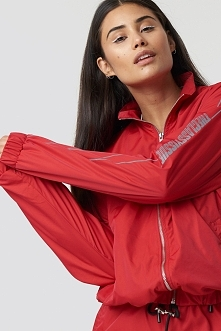 The Classy Issue x NA-KD The Classy Track Jacket - Red