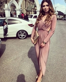 Sukienka Hanah (pudrowy róż...