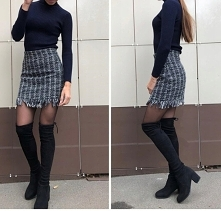 Seksowna spódnica żakardowa...