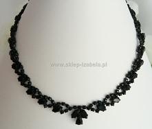 Czarna kolia biżuteria z kryształami