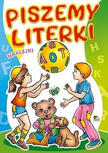 Kolorowanka. Piszemy literki - Dzieci z piłką (A5, 16 str.)