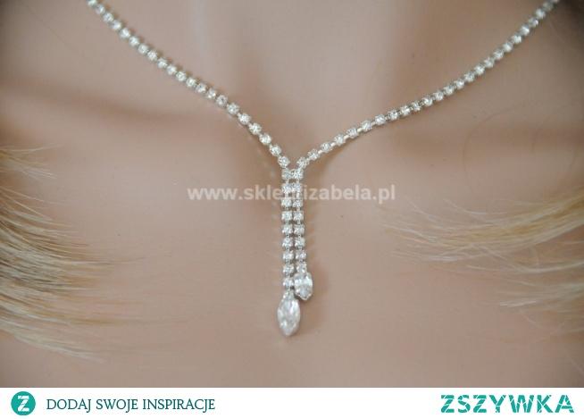 Kolia biżuteria z kryształkami