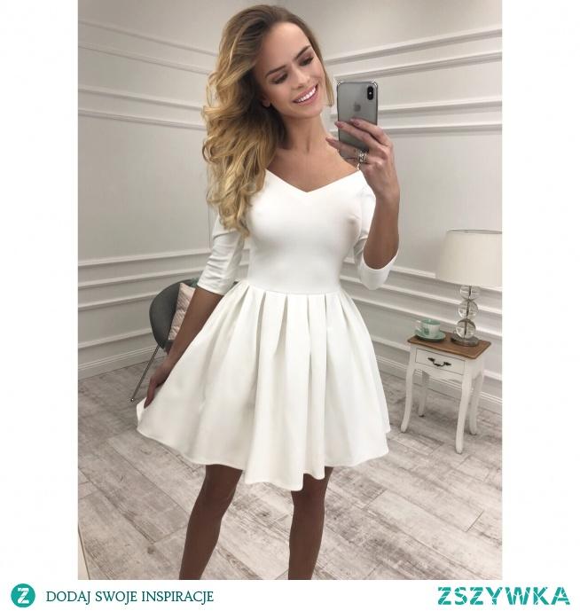 sukienkowo.com Kliknij w zdjęcie by przejść do przedmiotu LISA - sukienka z dekoltem ecru