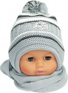 Czapka niemowlęca z szalikiem CZ+S 154G