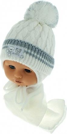 Czapka niemowlęca z szalikiem CZ+S 150C