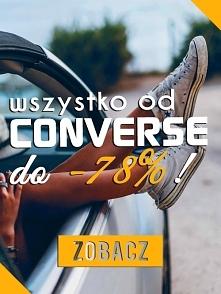 Promocja do -78% na buty, odzież i akcesoria od CONVERSE! Więcej informacji p...